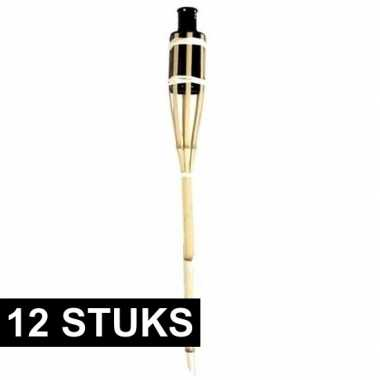 12x bamboe fakkels safe 60 cm