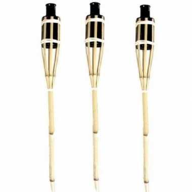 3x bamboe fakkels safe 60 cm