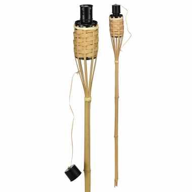 4x bamboe tuinfakkels 60 cm