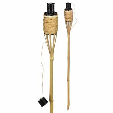 8x bamboe tuinfakkels 60 cm