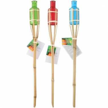Bamboe tuinfakkel set 3 stuks 60 cm type 2